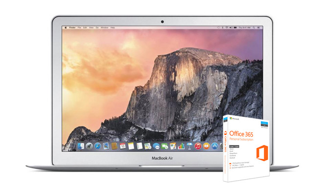 13 inch MacBook Air Office 365 discount